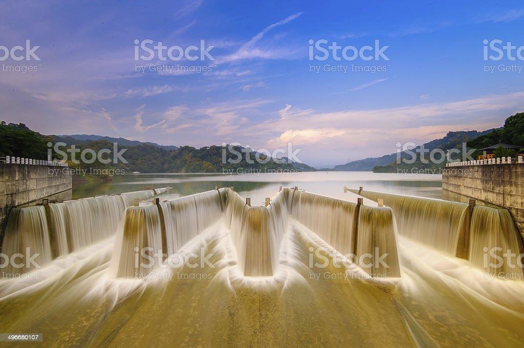 check dam in taiwan stock photo