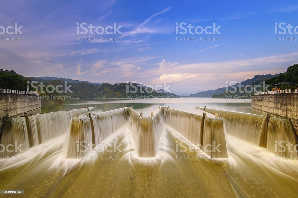 check dam in taiwan stock photo