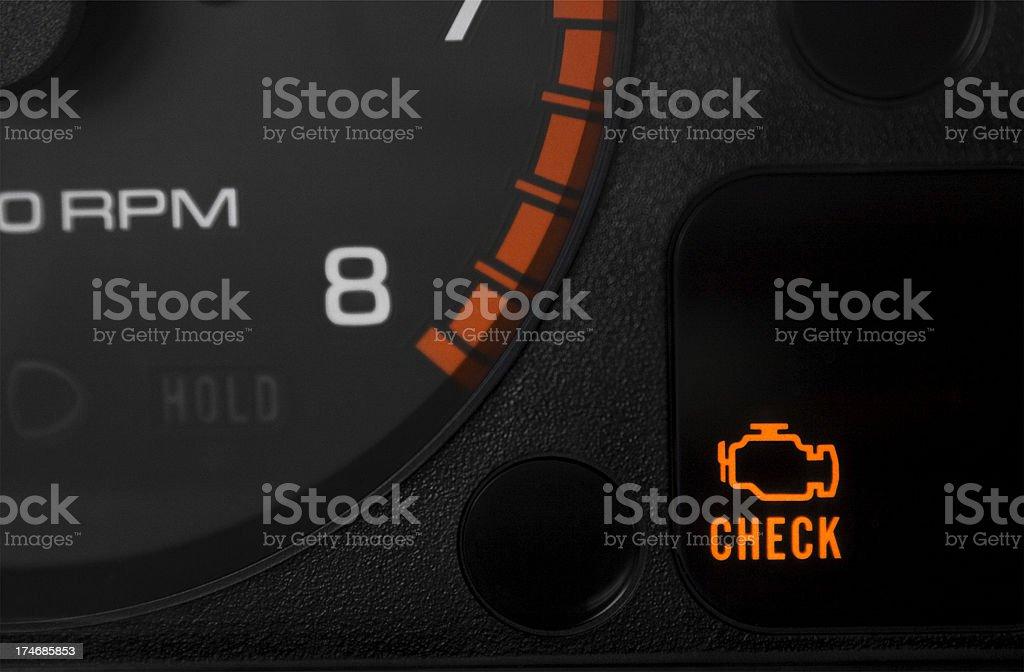 Check Engine Light royalty-free stock photo