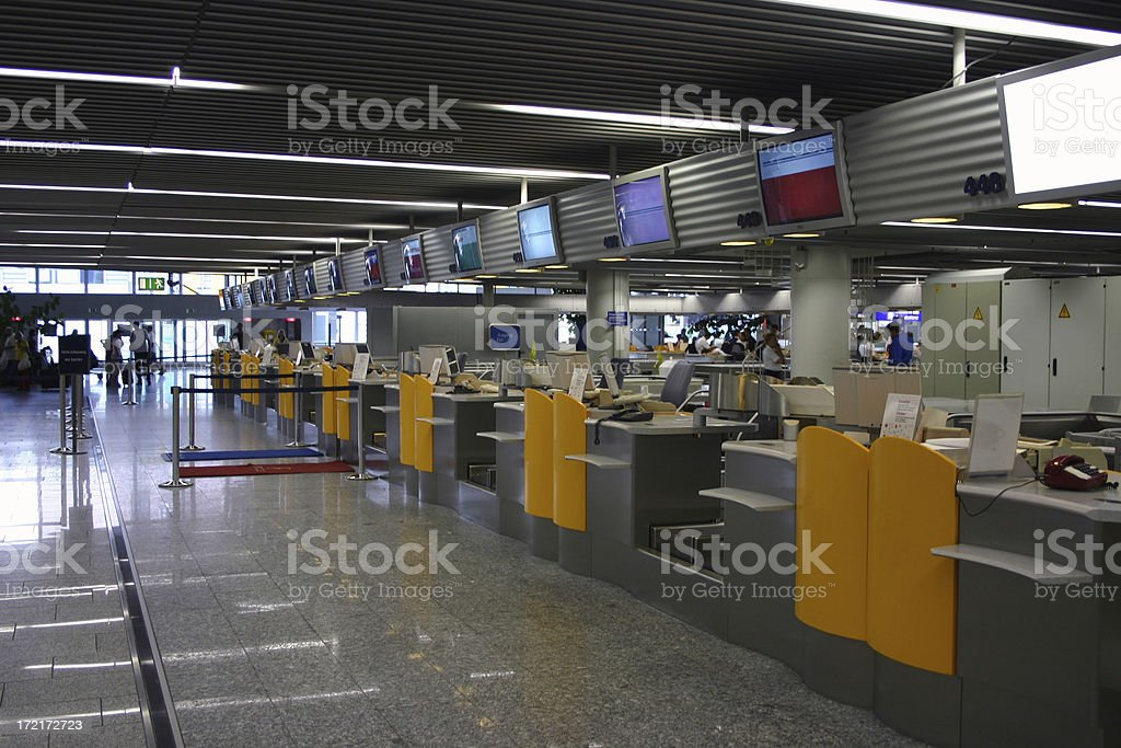 Check in at the airport stock photo