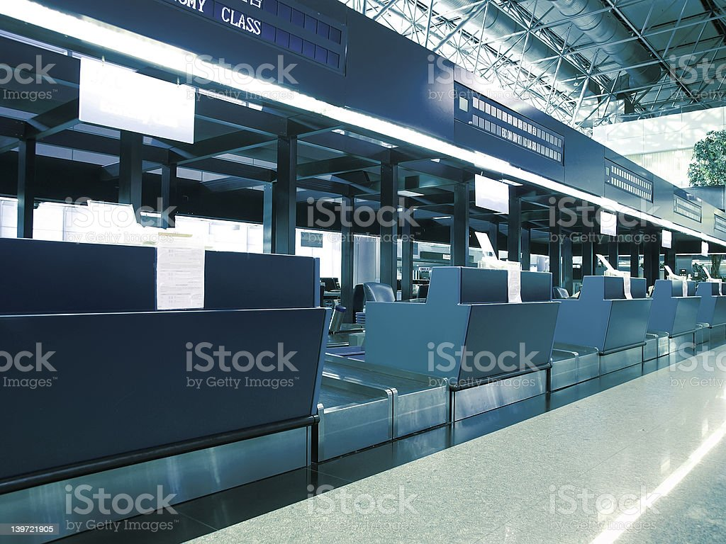 Check in counter stock photo