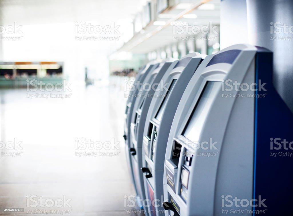 Check In Machines stock photo