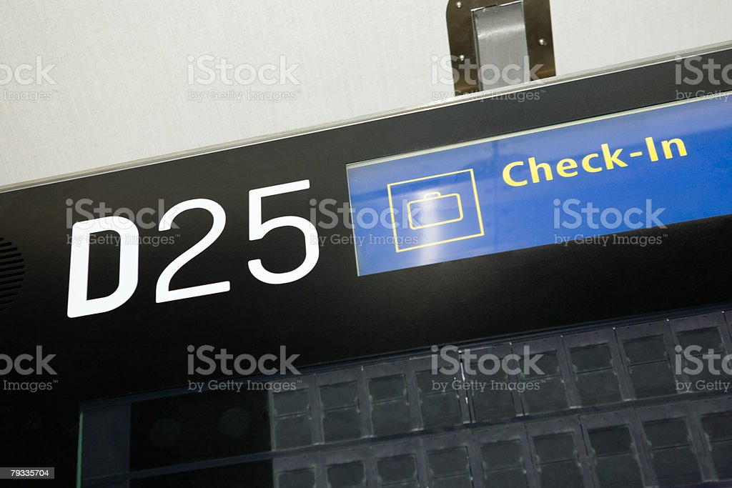 Check in sign royalty-free stock photo