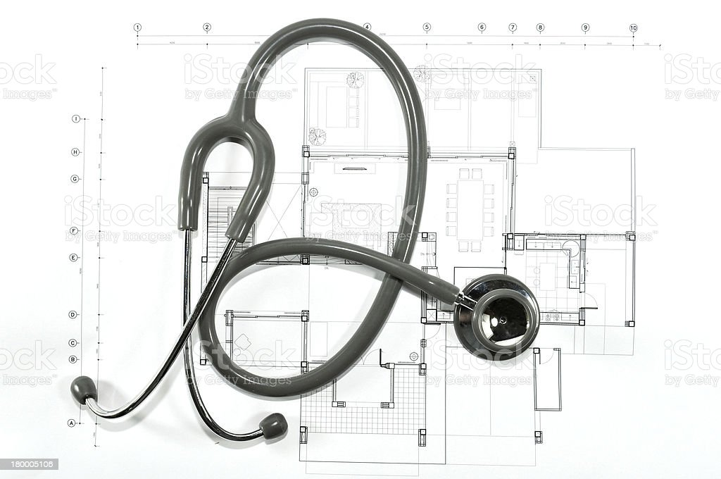 check Interior and architectural drawing royalty-free stock photo
