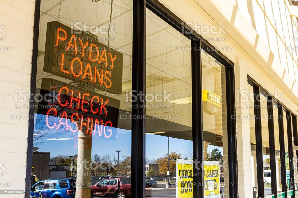 Check Into Cash Consumer Location II stock photo