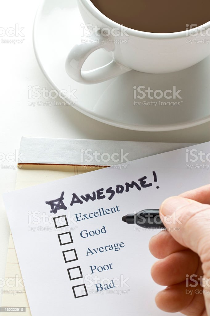 Check List  Awesome royalty-free stock photo