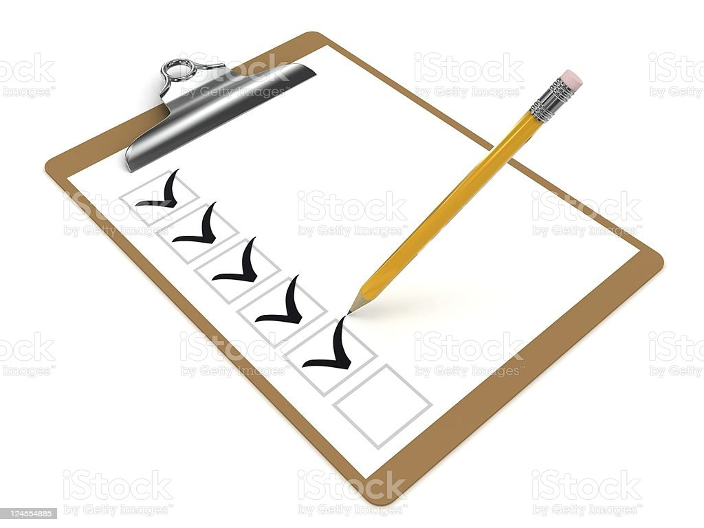 Check List Clipboard royalty-free stock photo