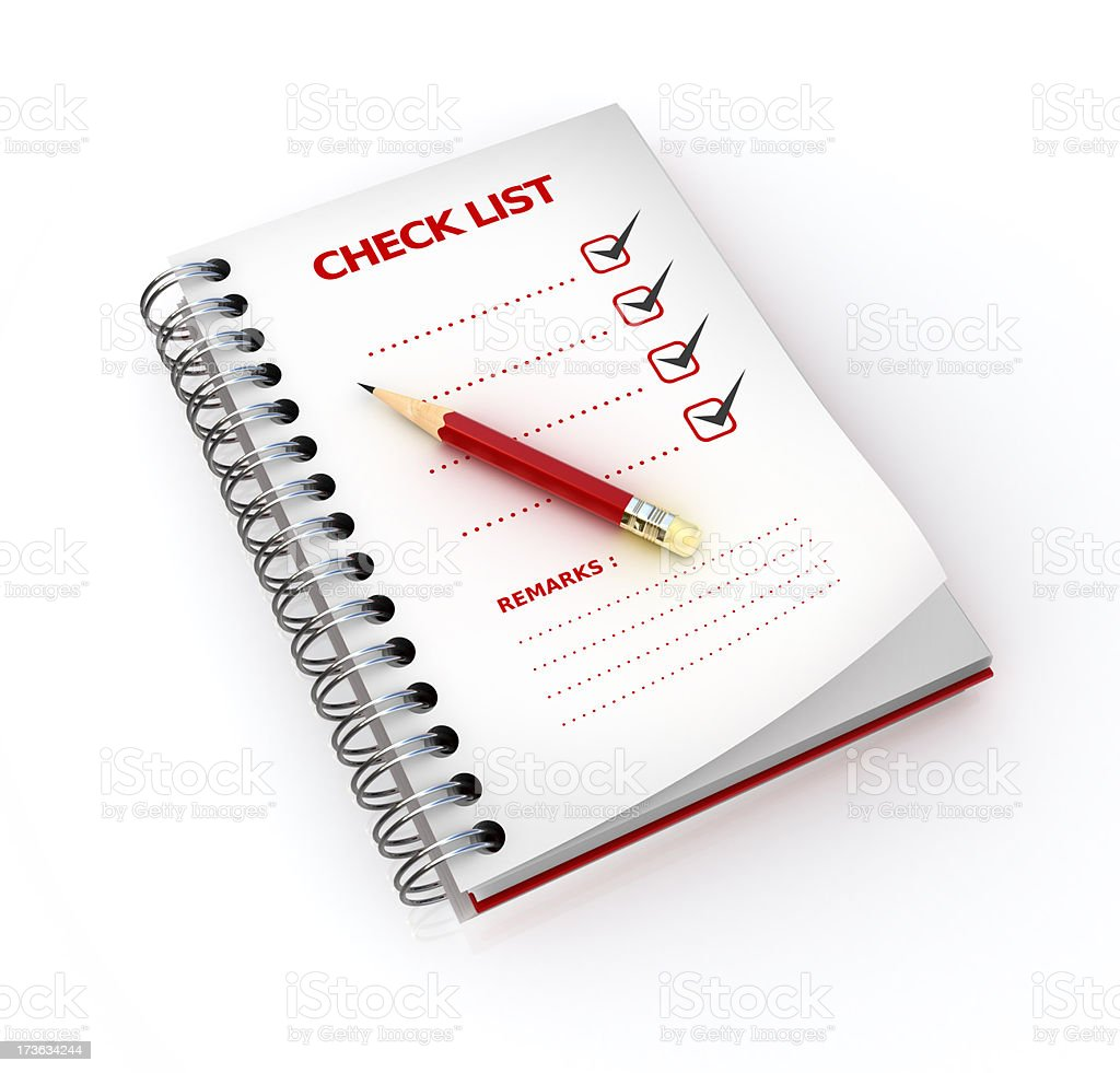 check list completed stock photo