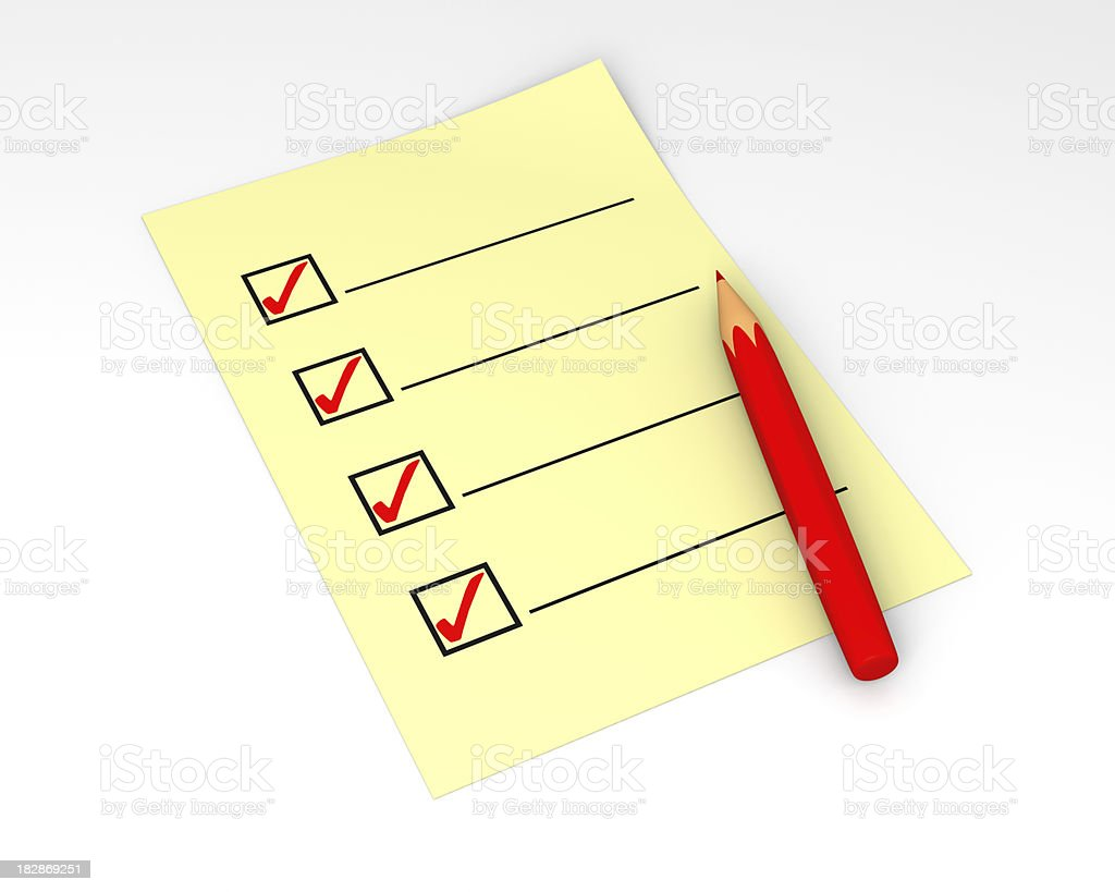 Check List Completed royalty-free stock photo