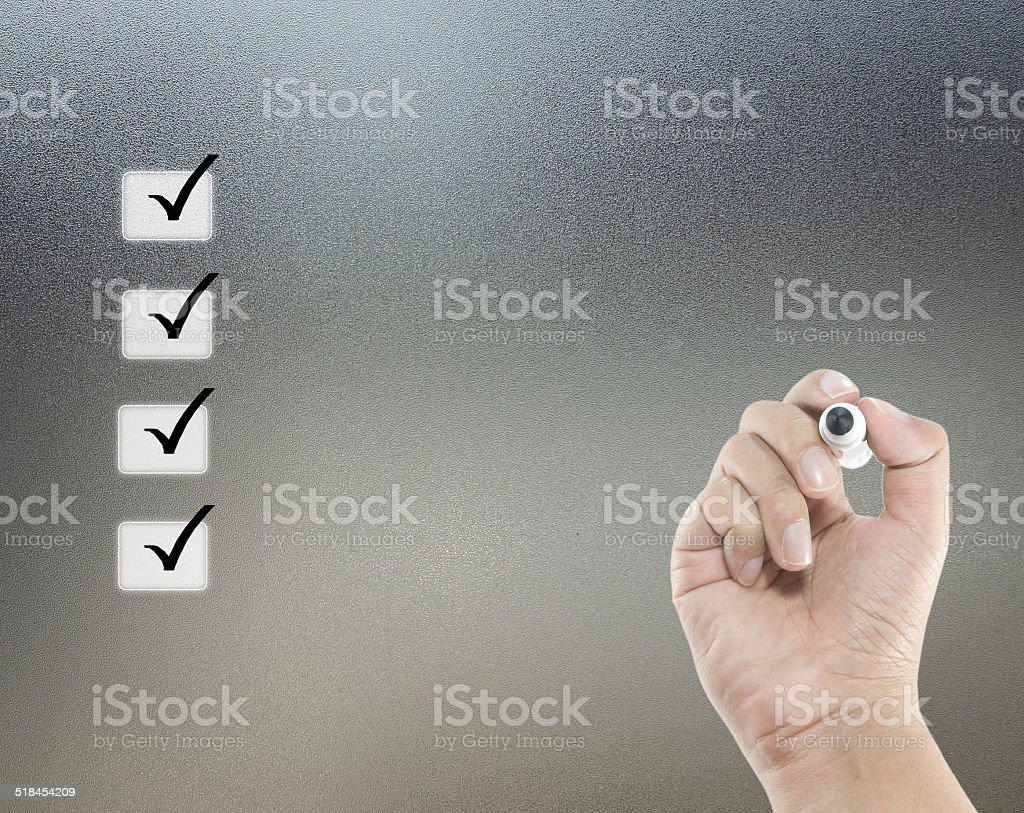 check list concept stock photo