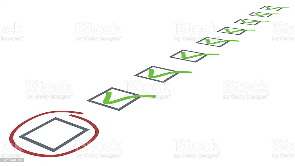 Check list. Green ticks in checkboxes royalty-free stock photo