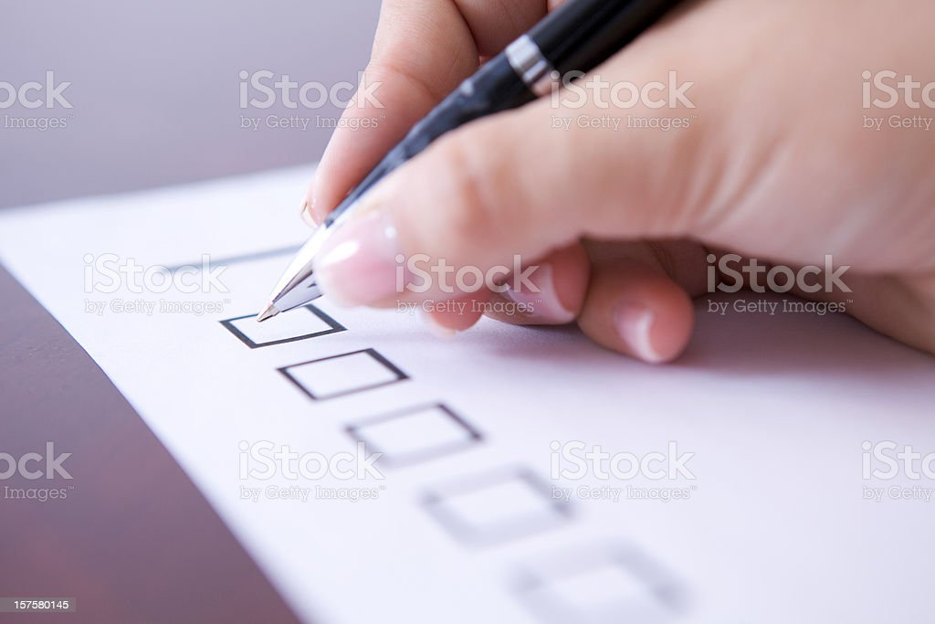 Check list royalty-free stock photo