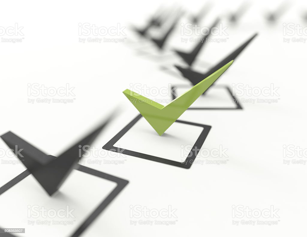 Check list Symbol-concept stock photo