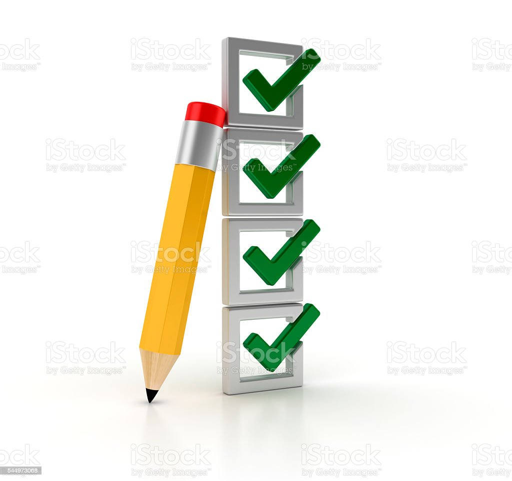 Check List with Pencil stock photo