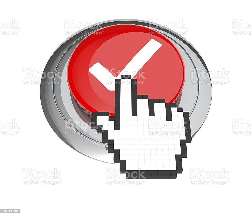 Check Mark Button royalty-free stock photo