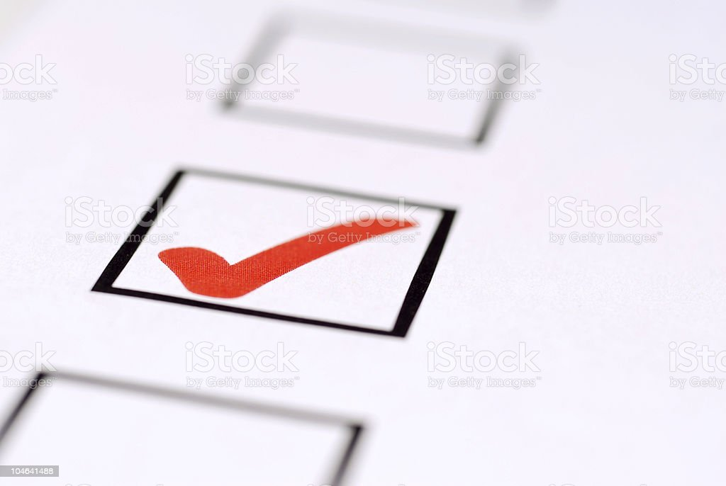Check Mark Close Up royalty-free stock photo