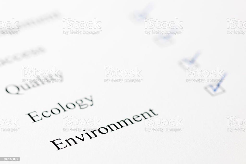 check mark for environment stock photo