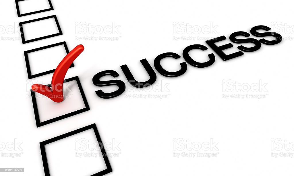 Check Mark for success royalty-free stock photo