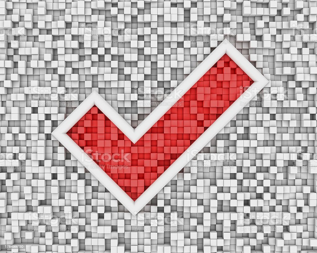 Check mark from cubes royalty-free stock photo