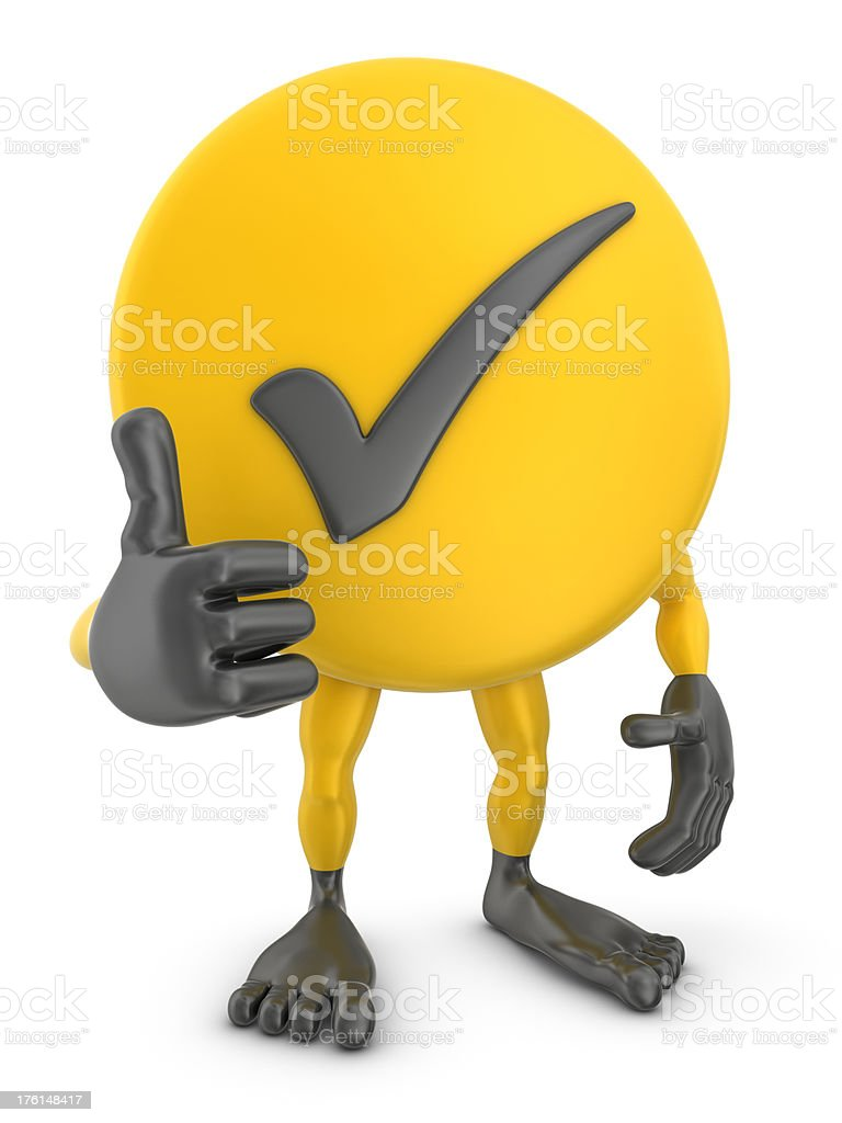 check mark man thumb up royalty-free stock photo