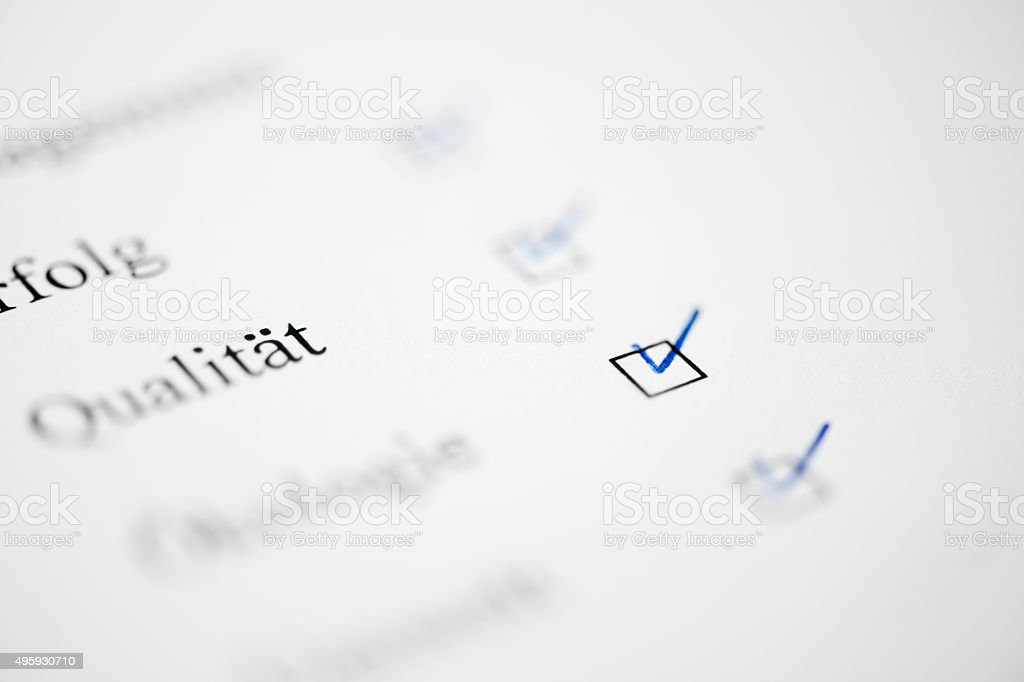check mark on page stock photo