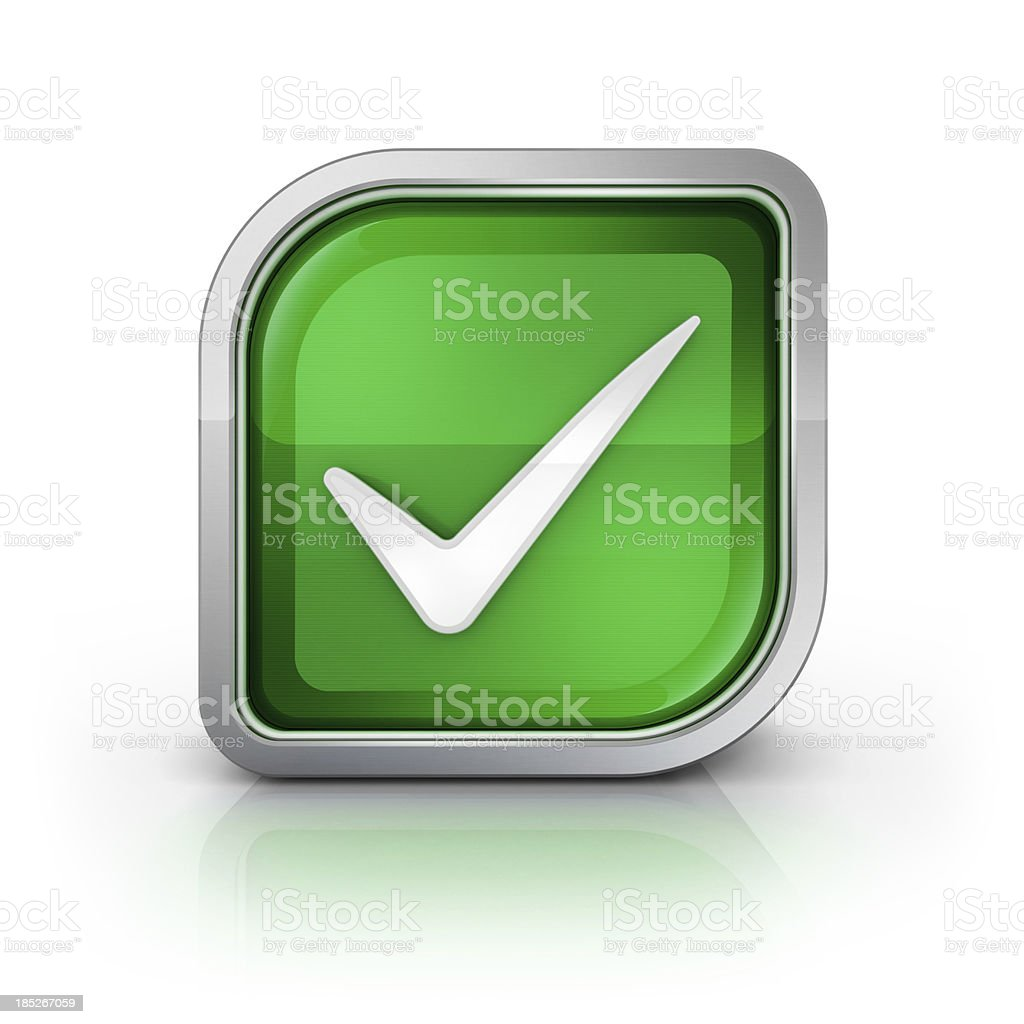 check mark square icon stock photo