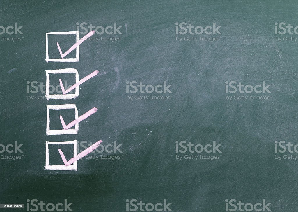 Check marks stock photo