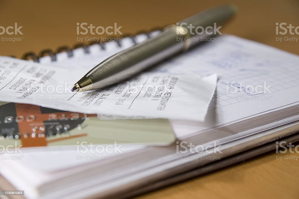 Check of finance royalty-free stock photo