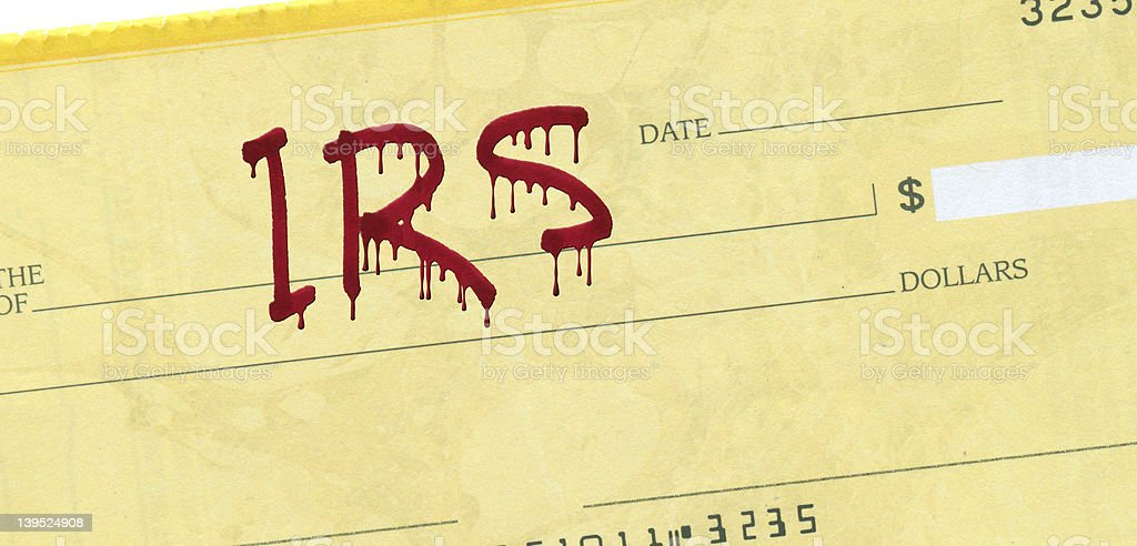 IRS Check royalty-free stock photo