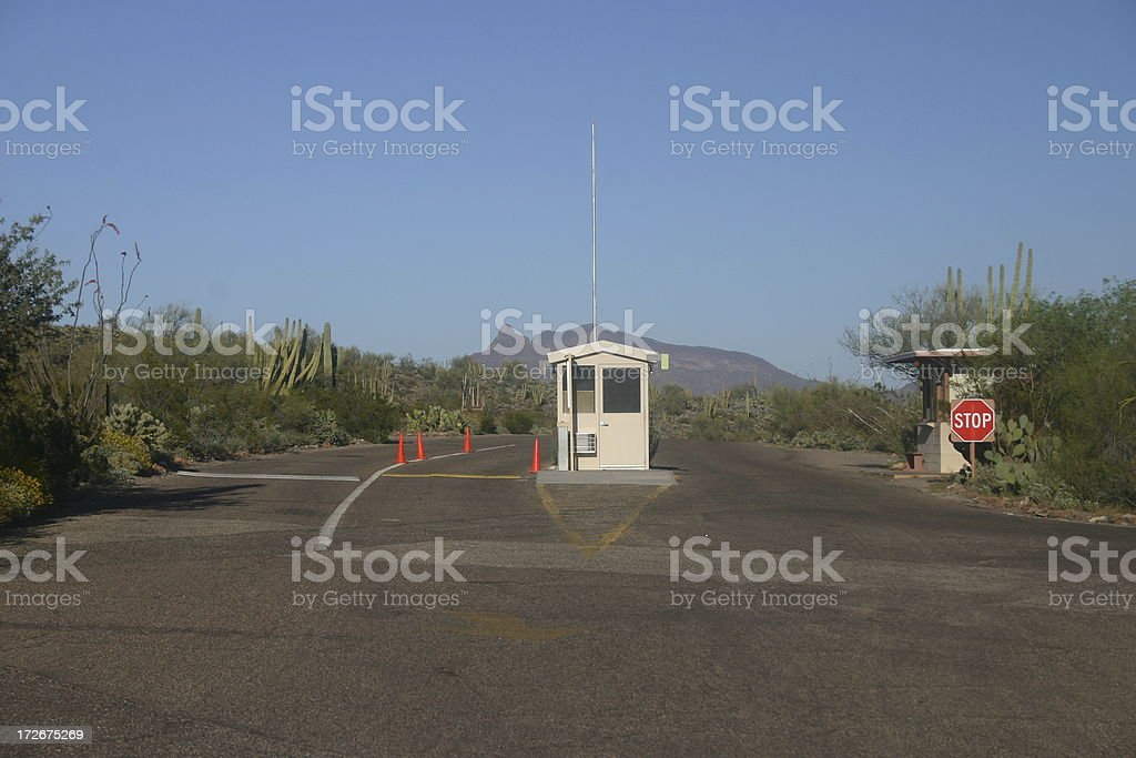 Check point royalty-free stock photo