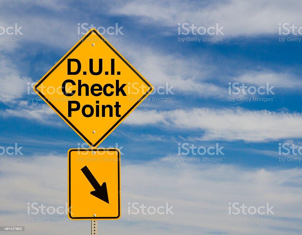 D.U.I. Check Point stock photo