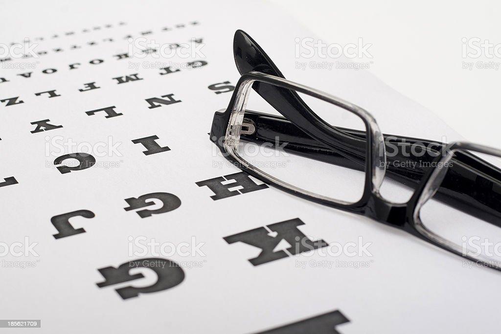 check the eyesight royalty-free stock photo