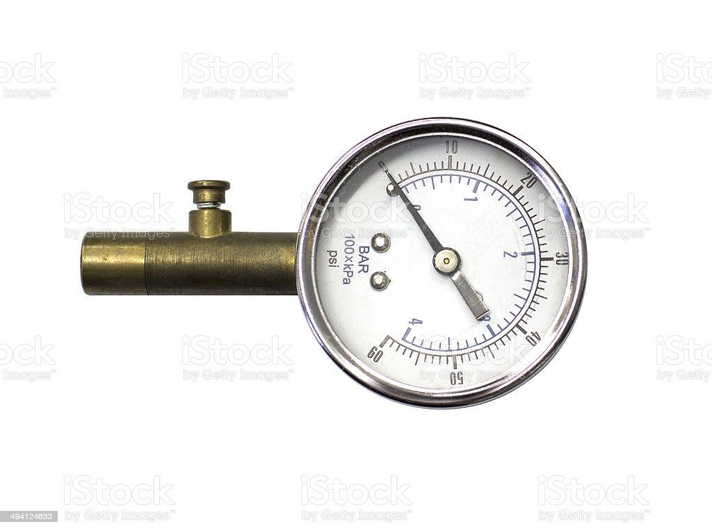 check tire pressure stock photo