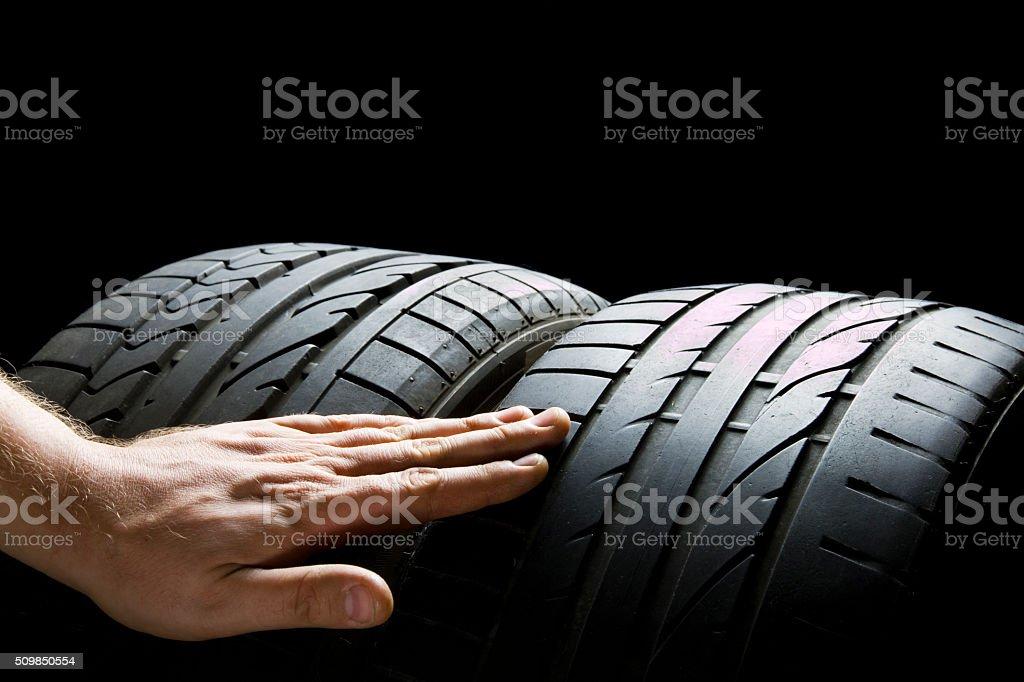Check tires stock photo