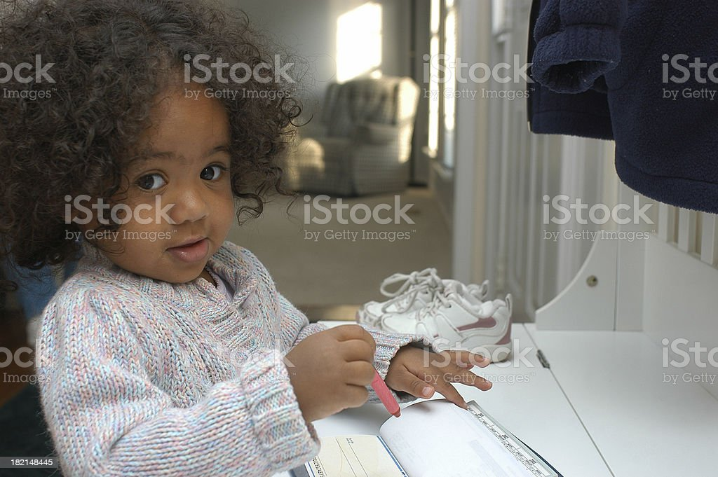 Check writing stock photo