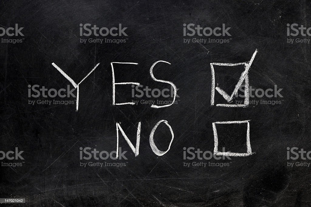 Check Yes or No royalty-free stock photo