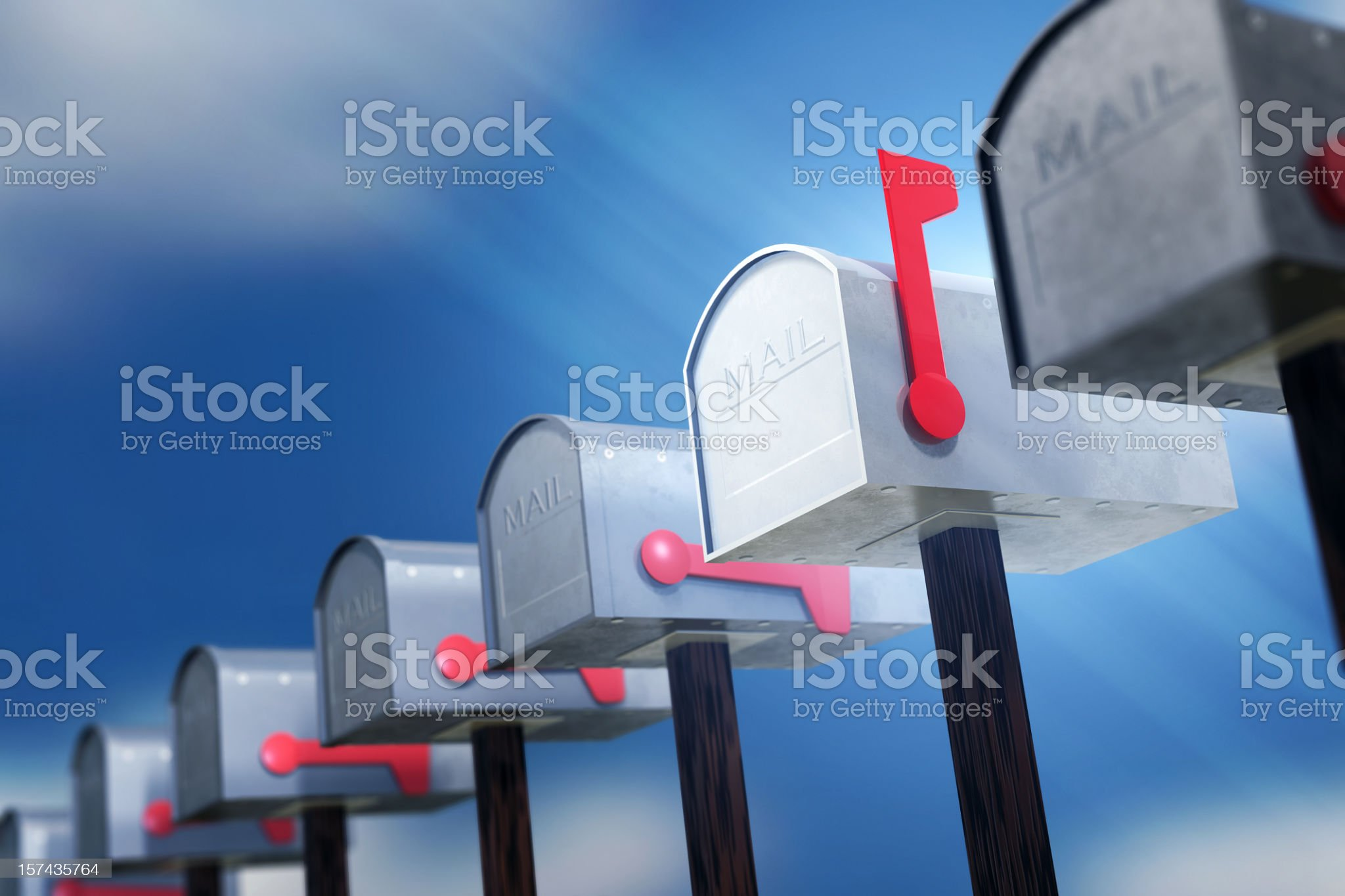 Check Your Mail royalty-free stock photo