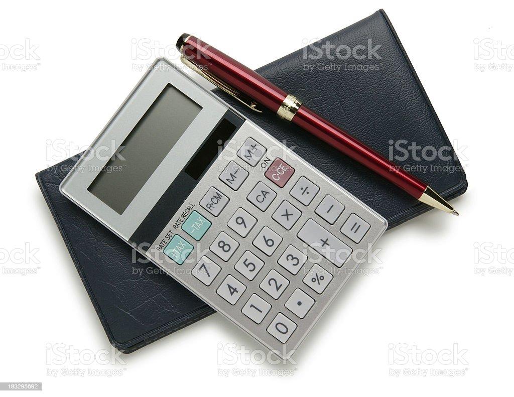 Checkbook & Calculator royalty-free stock photo