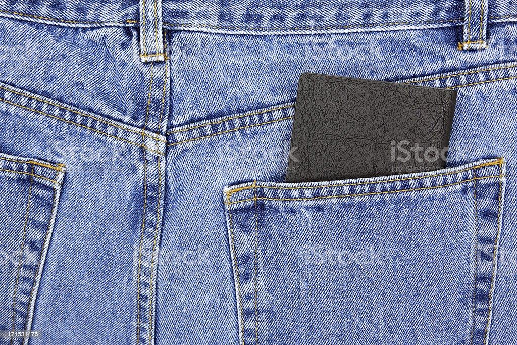 Checkbook in Back Pocket royalty-free stock photo