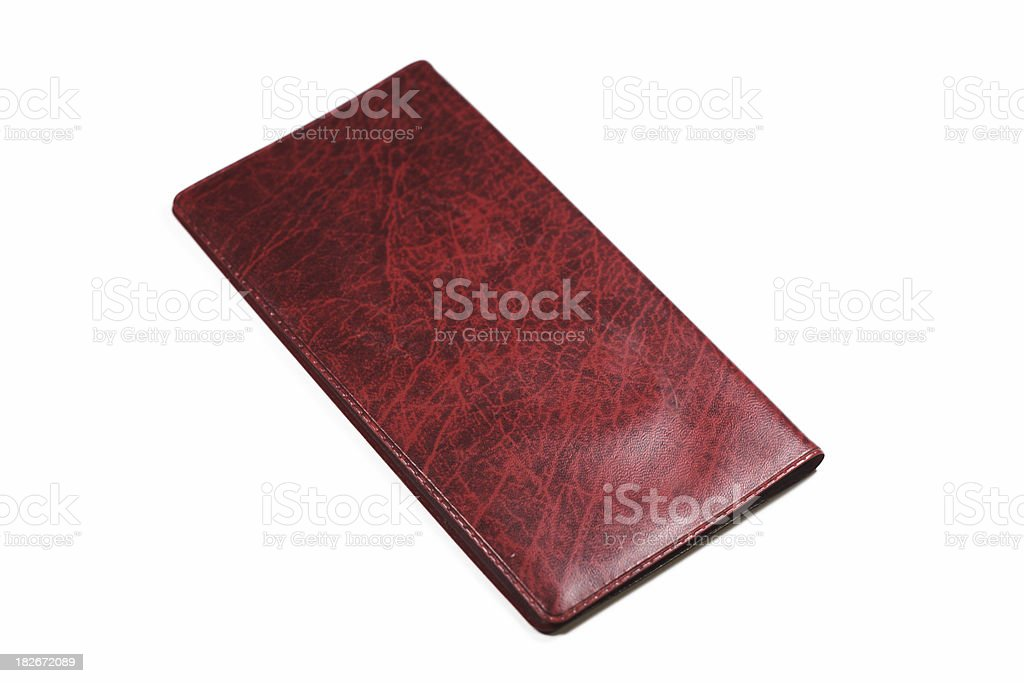 Checkbook Isolated royalty-free stock photo
