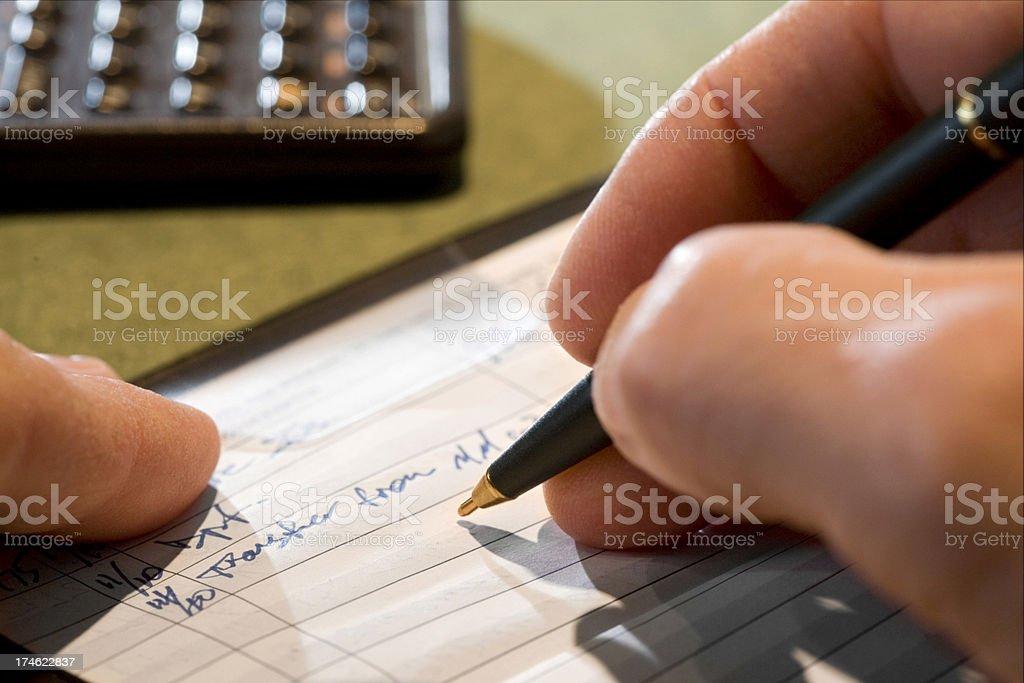 Checkbook stock photo