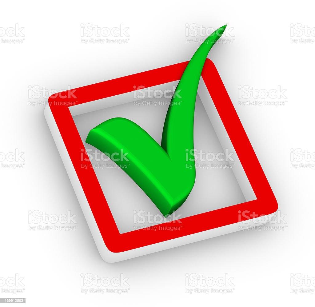 checkbox and green check mark royalty-free stock photo