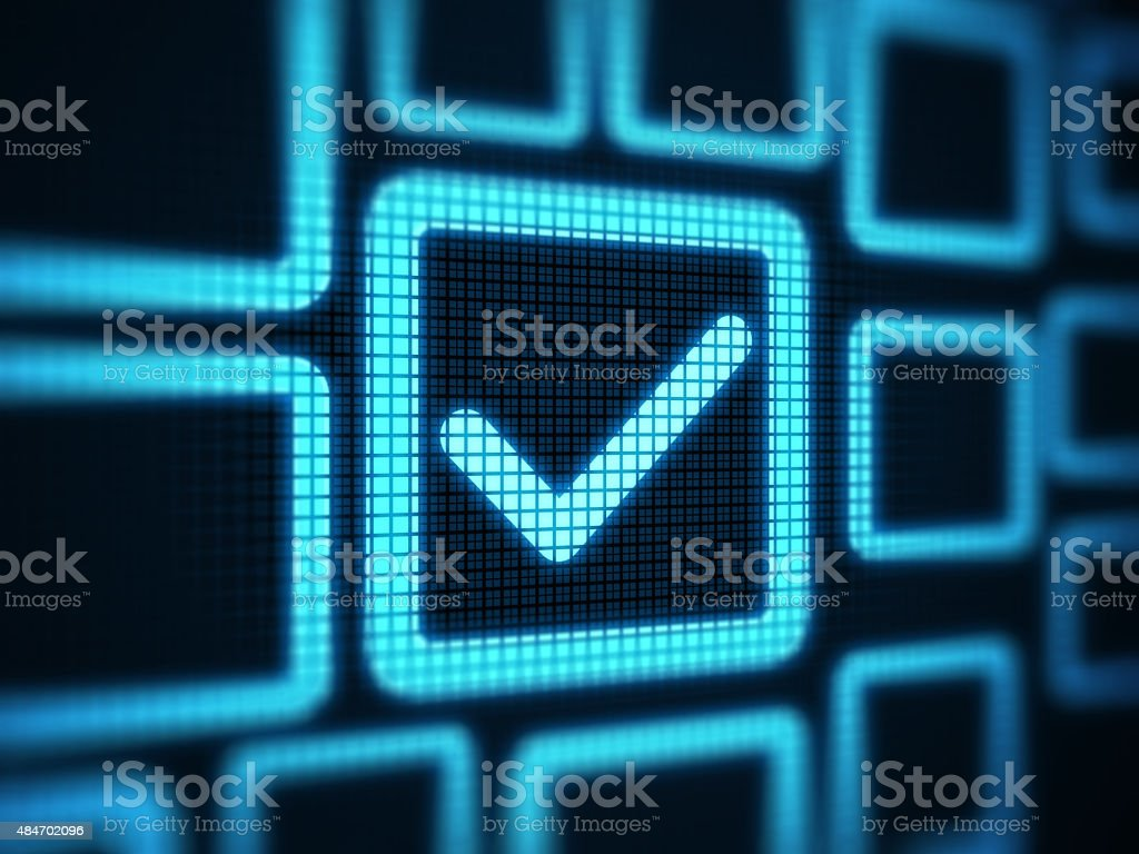 Checkbox on digital screen stock photo