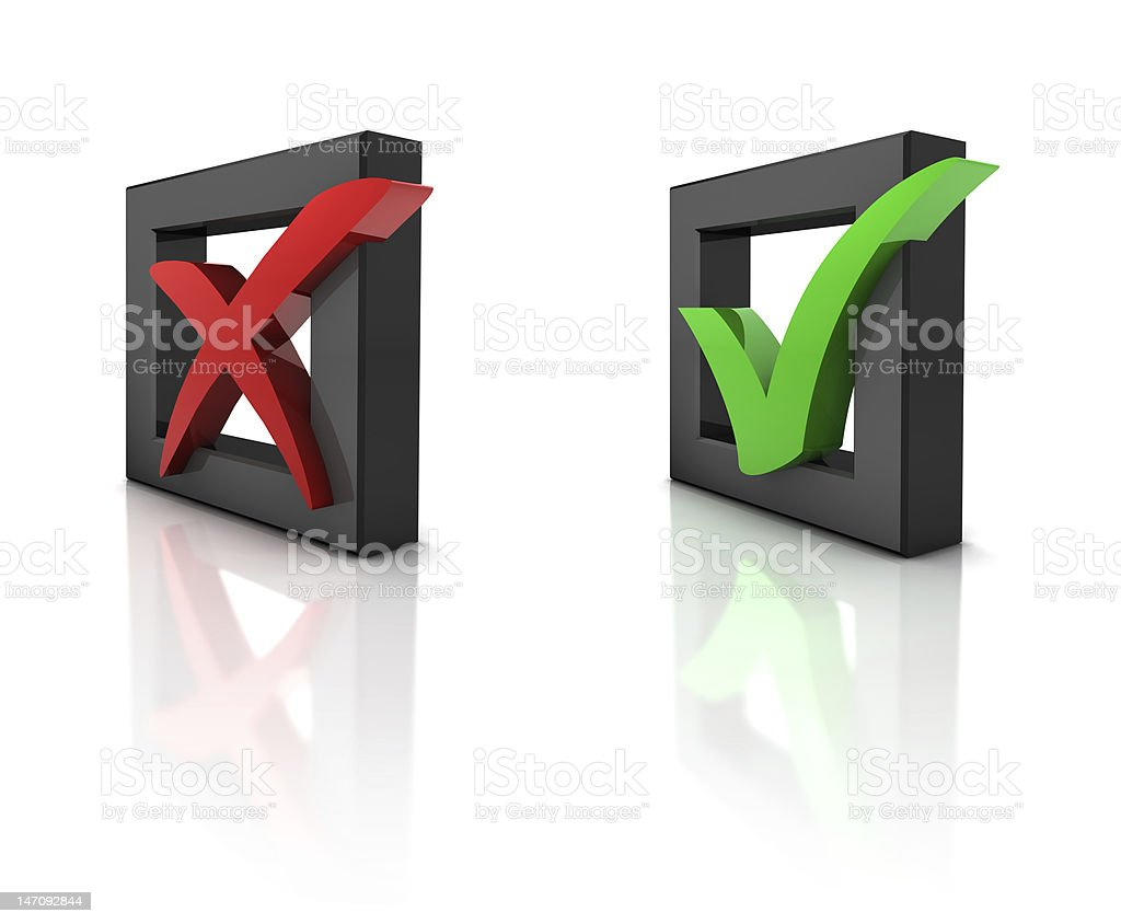 3D checkboxes royalty-free stock photo