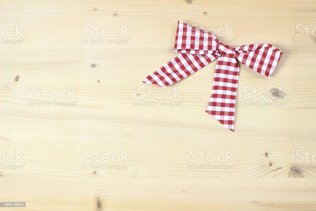 checked bow stock photo