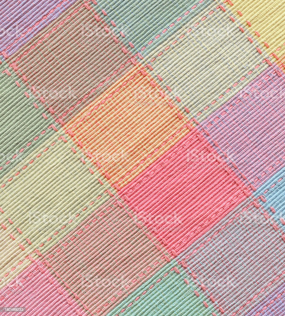 checked fabric in spring colors stock photo