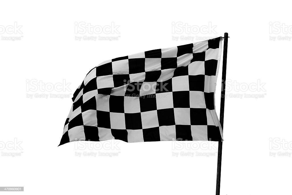 Checked flag stock photo