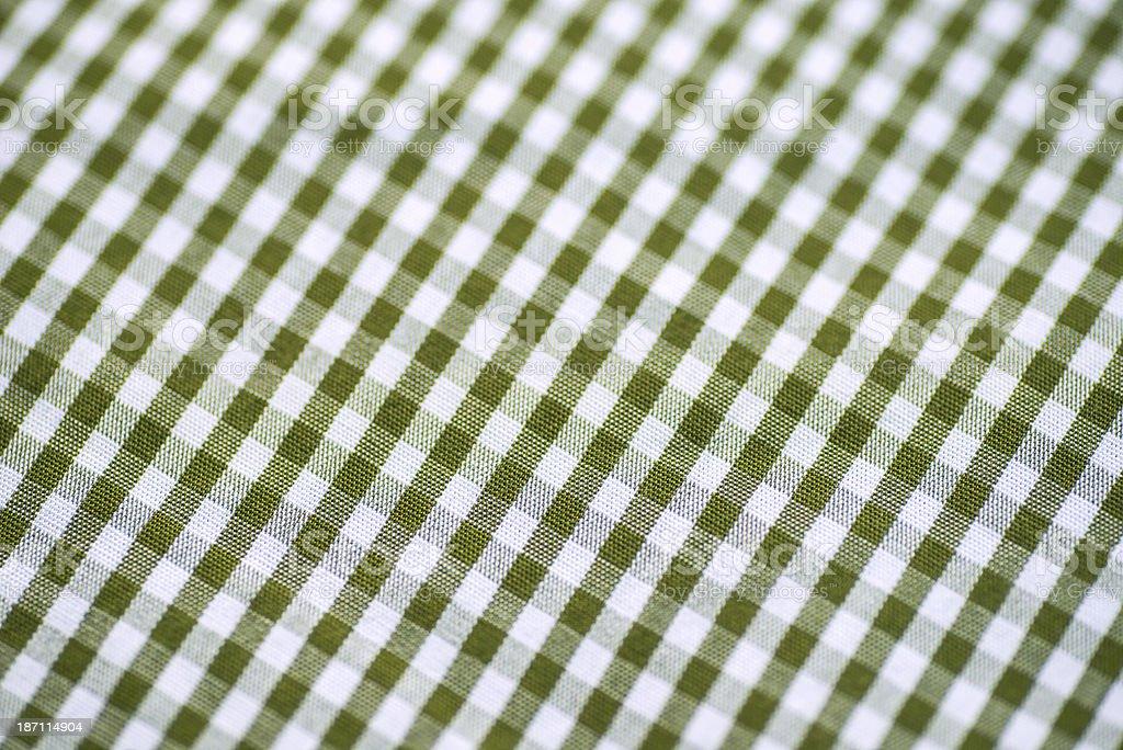 checked green pattern - Tischdecke royalty-free stock photo