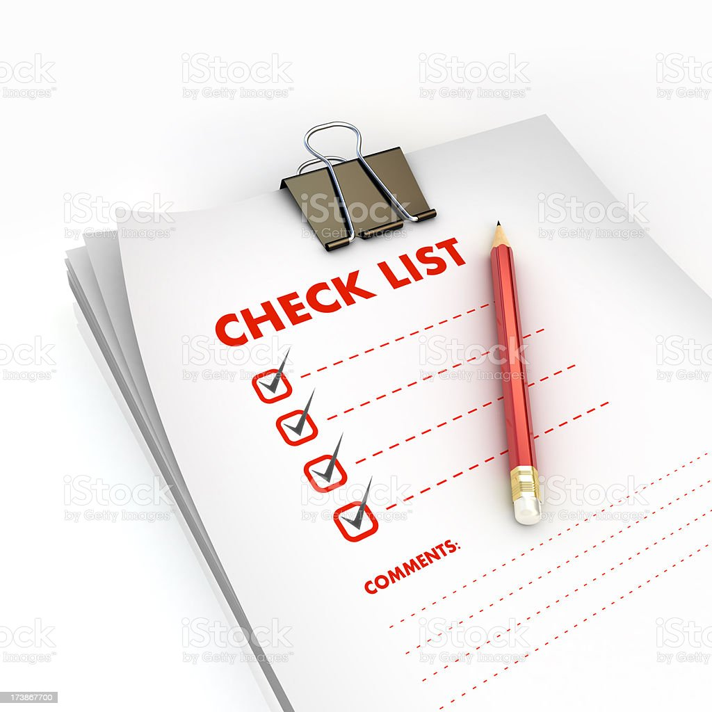 checked list stock photo