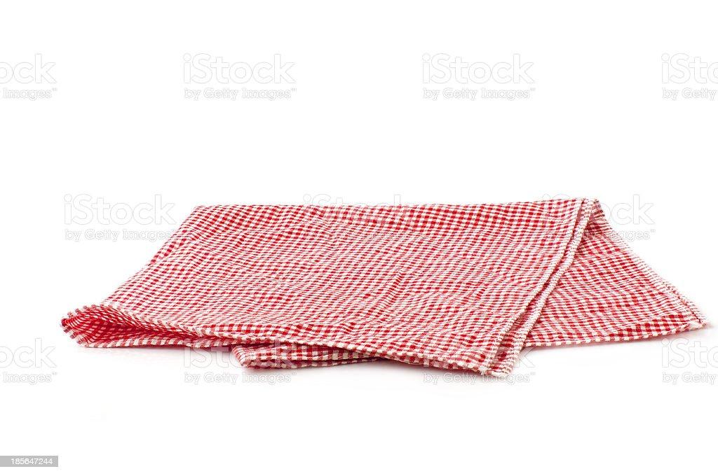 checked napkin royalty-free stock photo